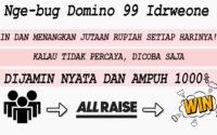 Nge-Bug Main Domino 99 Di Idrweone Jamin Menang 1000%